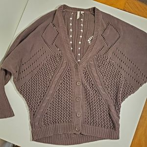 Frenchi knitted cardigan button up